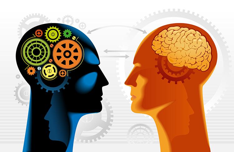 robot brain vs human brain