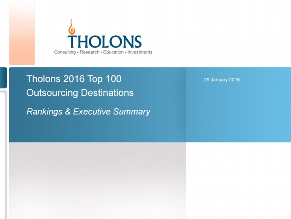 Tholons International 2016 Report