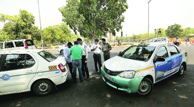 Taxi ban in New Delhi
