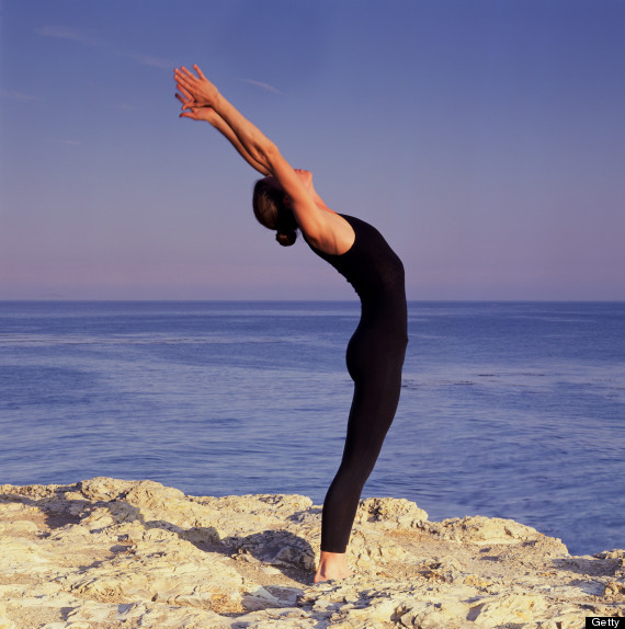 Tadasana With Arched Back