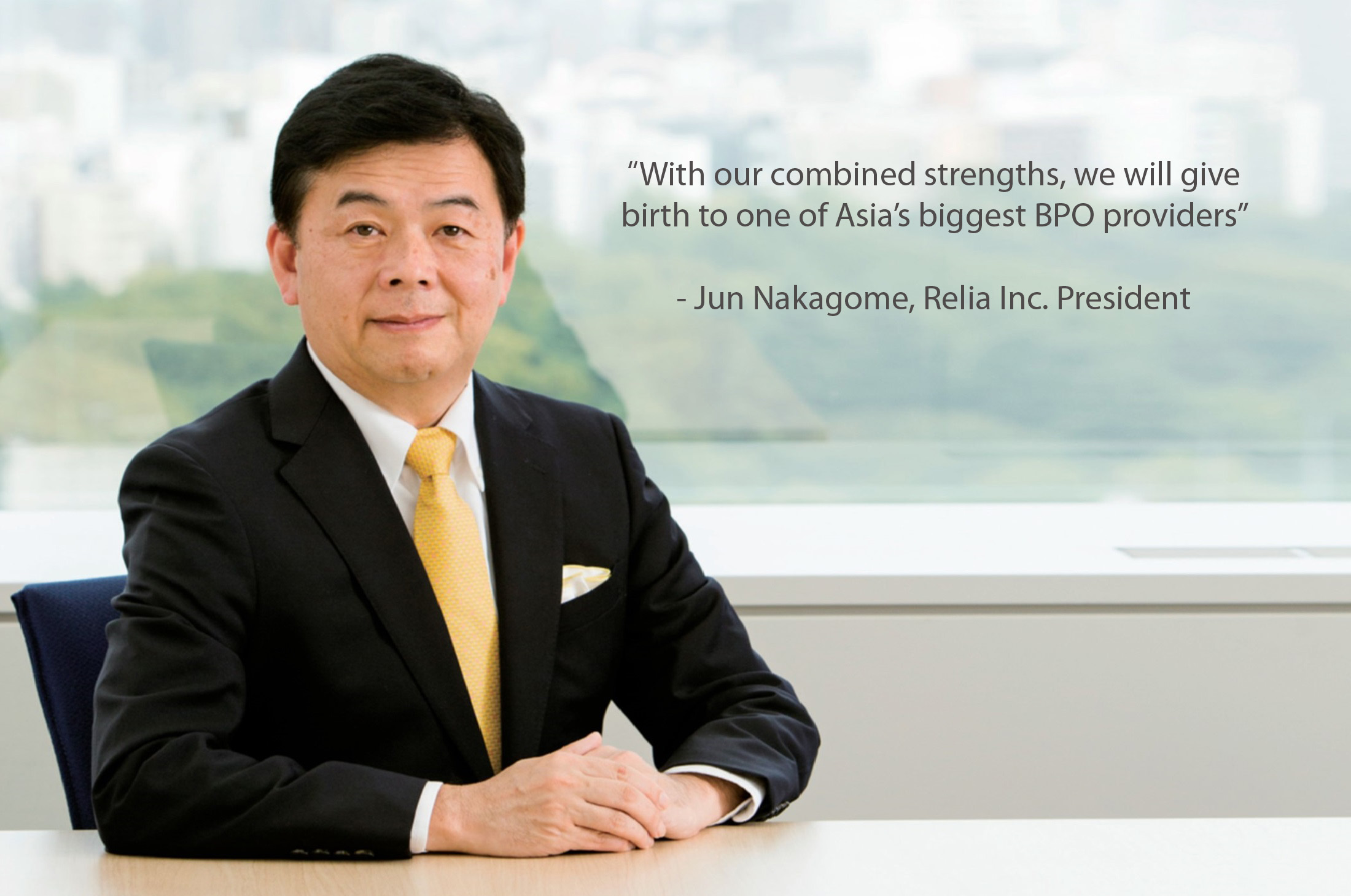 Jun Nakagome President of Relia Inc.